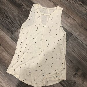 Star tank top with key hole from Maurice's